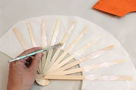paper fan how to make japanese fans with pictures ehow