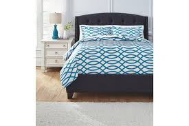 leander 3 piece queen duvet cover set ashley furniture homestore