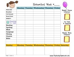 printable homeschool daily planner 14 best homeschool schedules ideas for independent work student