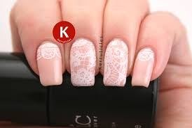 pale peach with lace stamping twinsie tuesday kerruticles