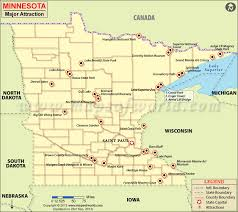 minnesota on map maps update 800711 tourist attractions map in minnesota places