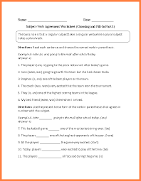 3 subject verb agreement worksheet 8th grade purchase agreement