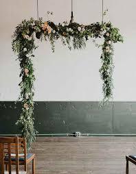 wedding arch garland woodland ceremony arch