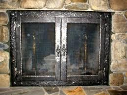 fireplace best glass fireplace screens good home design