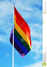 Rainbow Pride Flag Rainbow Pride Flag Stock Photo Image Of Flag Pole 4564374