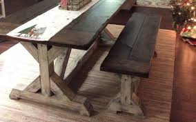trestle farmhouse table floyd rustic