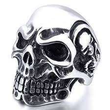 rings for men in pakistan stainless steel men skull biker rings online shopping in karachi