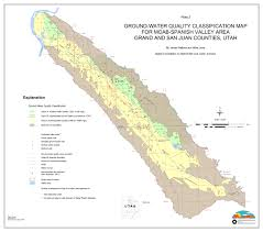 Moab Utah Map by Aquifer Classification Utah Ground Water Quality Protection