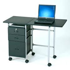 Portable Computer Desk Small Desk On Wheels Image For Mobile Computer Cart Small