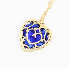 blue heart necklace images Legend of zelda red blue heart pendant necklace or keychain free jpg