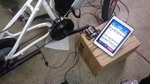 ebike motor test on test bench bikee bike 749w youtube