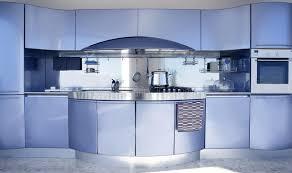 cuisine architecture décoration moderne d architecture de cuisine argentée bleue photo