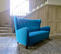sofa mit hoher lehne high back teal wool sofa 1940s for sale at pamono