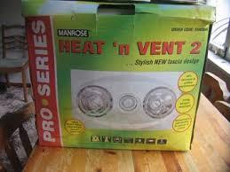 manrose pro series heat u0027n vent 2 fan 0940 bathroom extractor fan