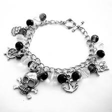 charms bracelet online images Pirate charm bracelet silver charms skull and crossbones jpg