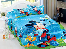 Mickey Mouse Bed Sets Blue Mickey Mouse Football Bedding Sets Single Size