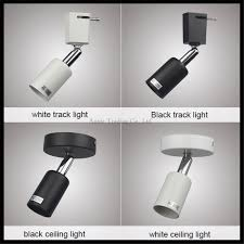 Black Track Lighting Fixtures by Aliexpress Com Buy Loft Minimalist E27 Track Light Universal