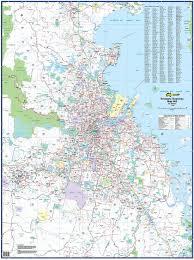 Marin Map Buy Brisbane Business Ubd Laminated Wall Map Mapworld