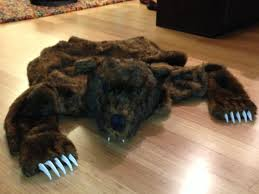 griz rug a totally realistic and totally fake bear rug by