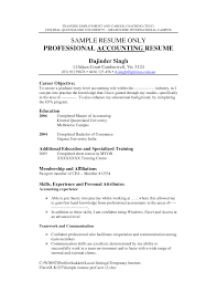 Sample Resume Of Cpa by Enchanting Accounting Resume Objective 9 Accounting Sample