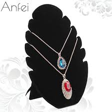 necklace storage display images Fire shape necklace display board jewelry display board black jpg