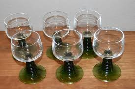 roemer glass green stemmed german wine glasses