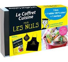 fnac livres cuisine pour les nuls coffret avec 1 tablier en coton et 1 manique inclus
