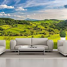 tuscan countryside wall mural green landscape photo wallpaper