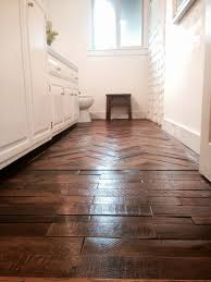 wood floor made from reclaimed shipping pallets commissioned