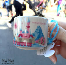mug ornament starbucks you are here disneyland mug ornament mini mad