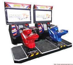 dual motocycle racing arcade machine dream game room rec room