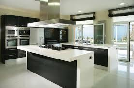 modern kitchen hood design contemporary kitchen kitchen with black and white furniture