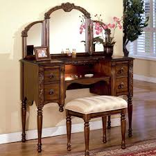 vanity and bench set with lights ashton oak tri fold vanity mirror reflects light and adds charm to