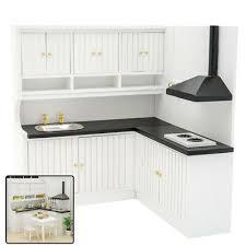 kitchen sink with cupboard for sale dollhouse miniature kitchen cabinet 1 12 wooden white cupboard furniture decor