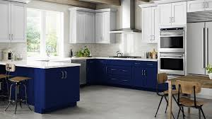 blue kitchen cabinets grey walls navy blue shaker cabinets kitchen cabinetry wall cabinets