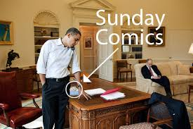 obama at desk president obama reads the comics and pickles the daily cartoonist