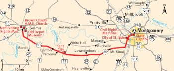 selma map map of the selma to montgomery march on route 80 social mvmts