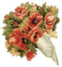 vintage bouquet poppy flower bouquet clip vintage fangirl