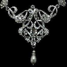Diamond Chandelier Necklace Pearl Chandelier Bridal Necklace Art Deco Victorian Necklace