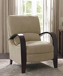 living room recliner chairs amazon com microfiber recliner chair bent wood armrest reclining