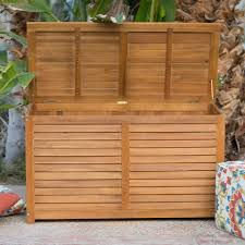 Outdoor Patio Cushion Storage Bench by 90 Gallon Acacia Wood Deck Box Outdoor Patio Cushion Storage Bench