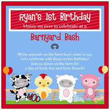 barnyard buddies farm birthday invitations paperstyle
