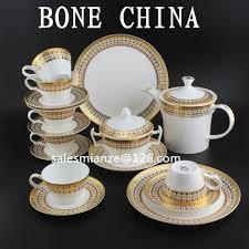 golden china pattern bone china ceramic coffee or tea sets with golden pattern