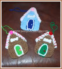gingerbread house ornament allfreecrochet