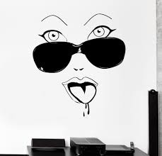popular wall stickers glamour buy cheap wall stickers glamour lots high quality home wall stickers hot women face glamour glass vinyl art decor decals gw