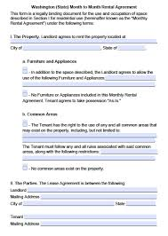 Commercial Lease Sample Download Washington State Rental Lease Agreement Forms And