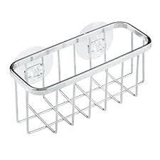 Amazoncom InterDesign Gia Suction Kitchen Sink Caddy  Sponge - Kitchen sink sponge holder