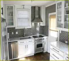 gray kitchen backsplash gray subway tile kitchen throughout white cabinets with backsplash