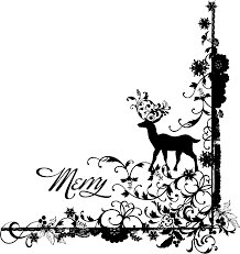 xmas stuff for christmas borders black and white clip art library