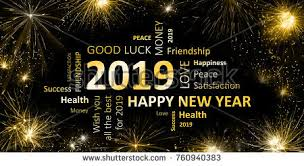 new year s greeting card new year greeting card 2019 stock illustration 760940383